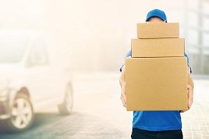 Paketlieferung an den Arbeitsplatz
