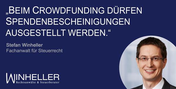Spendenrechtliche Behandlung von Crowdfunding